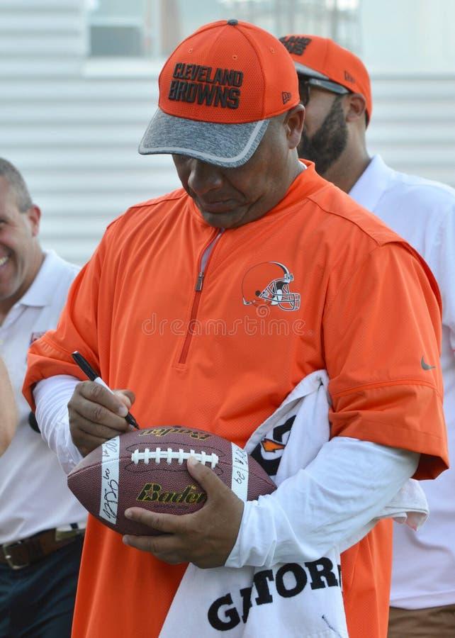 Odcienia Jackson trenera głównego cleveland browns obraz stock