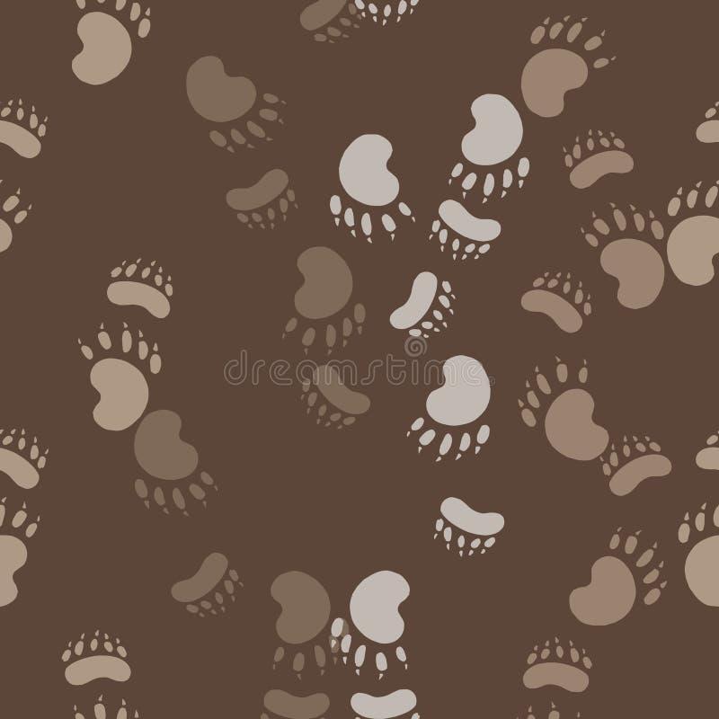 Odcisk łapa niedźwiedź ilustracji