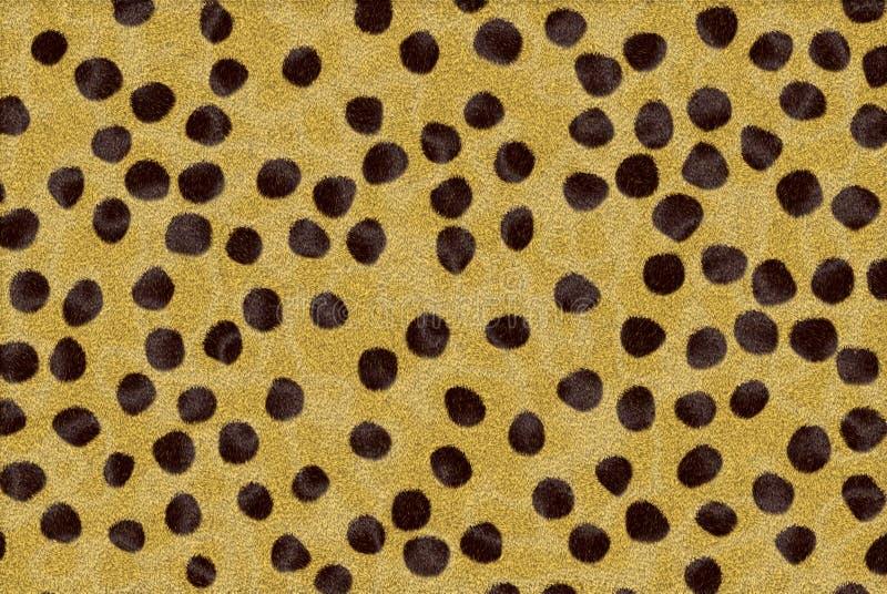 odcisk futerkowy geparda royalty ilustracja