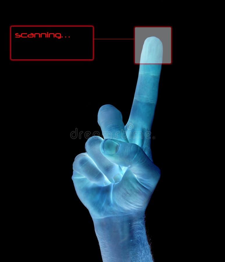 odcisk identyfikacji palec zdjęcia stock