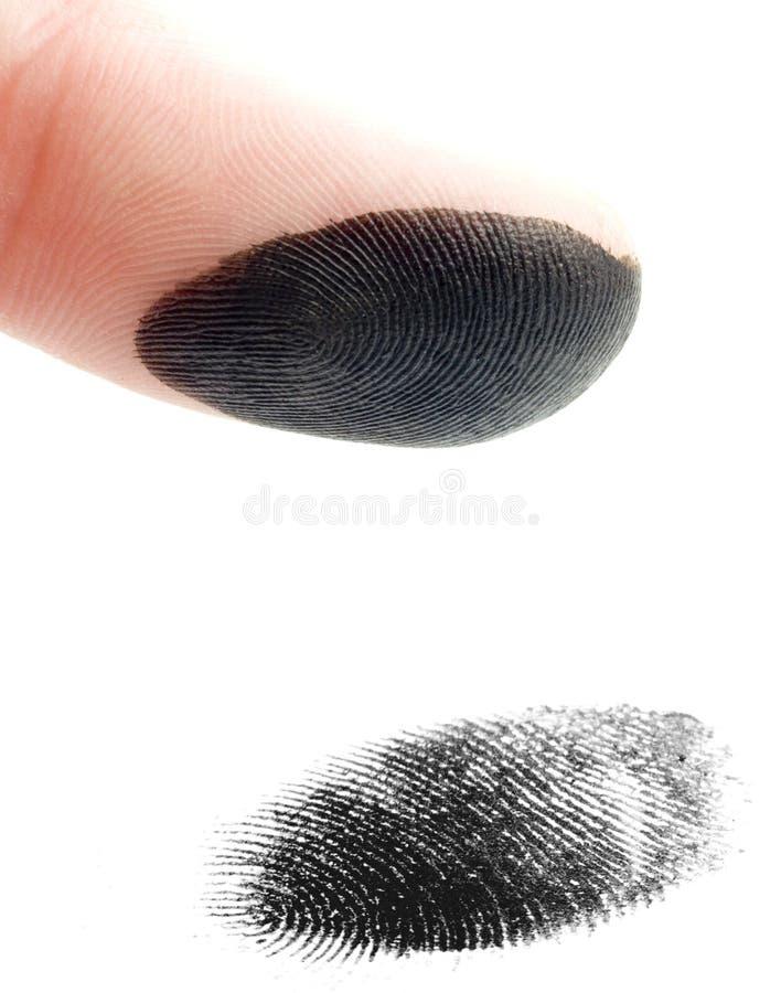 odcisk palca zdjęcia stock