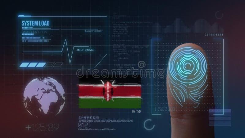 Odcisk Palca Biometrycznego skanerowania Tożsamościowy system Kenja narodowość obrazy royalty free