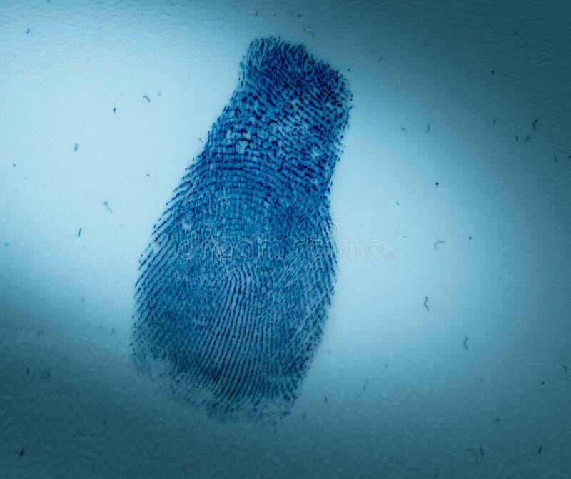 Odcisk palca Criminology i przestępstwo zdjęcie royalty free