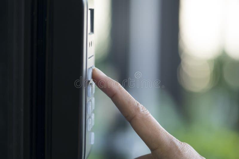 Odcisk palca i kontrola dostępu obraz stock