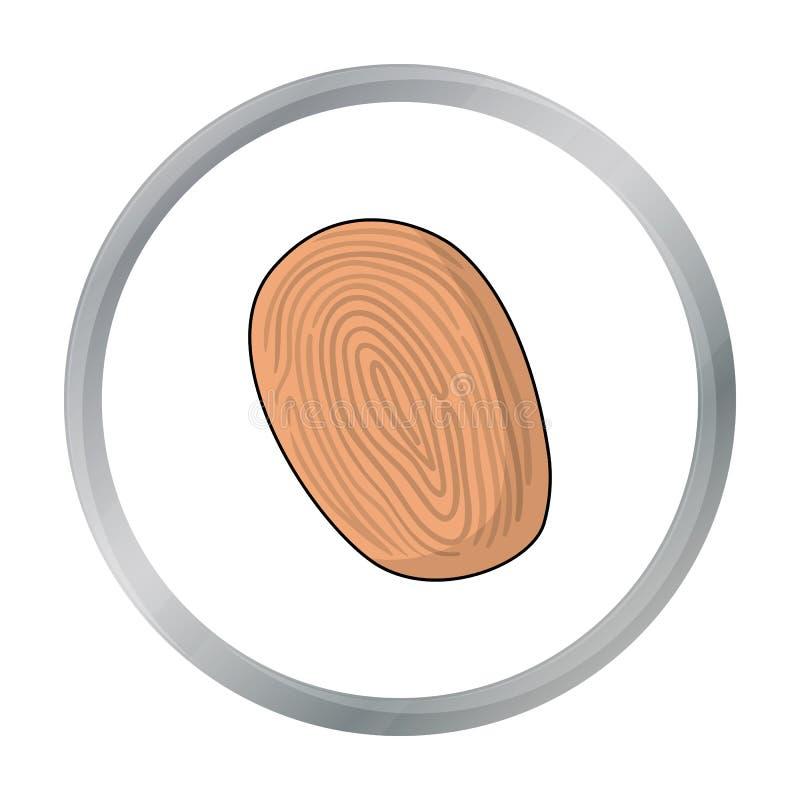 Odcisk palca ikona w kreskówka stylu odizolowywającym na białym tle Przestępstwo symbolu zapasu wektoru ilustracja ilustracja wektor