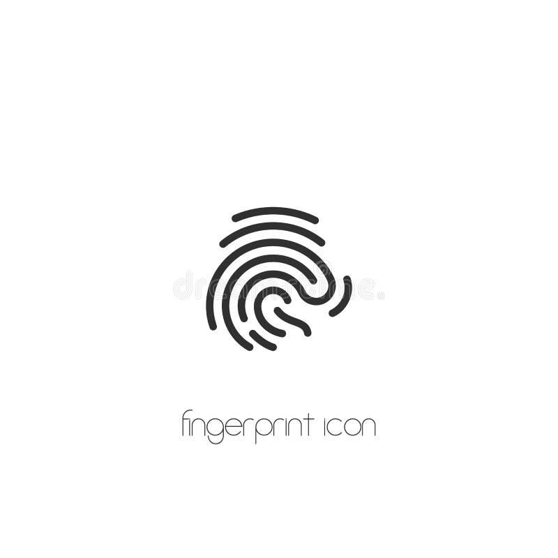 Odcisk palca ikona wektorowy symbolu mieszkania styl na białym tle EPS10 royalty ilustracja