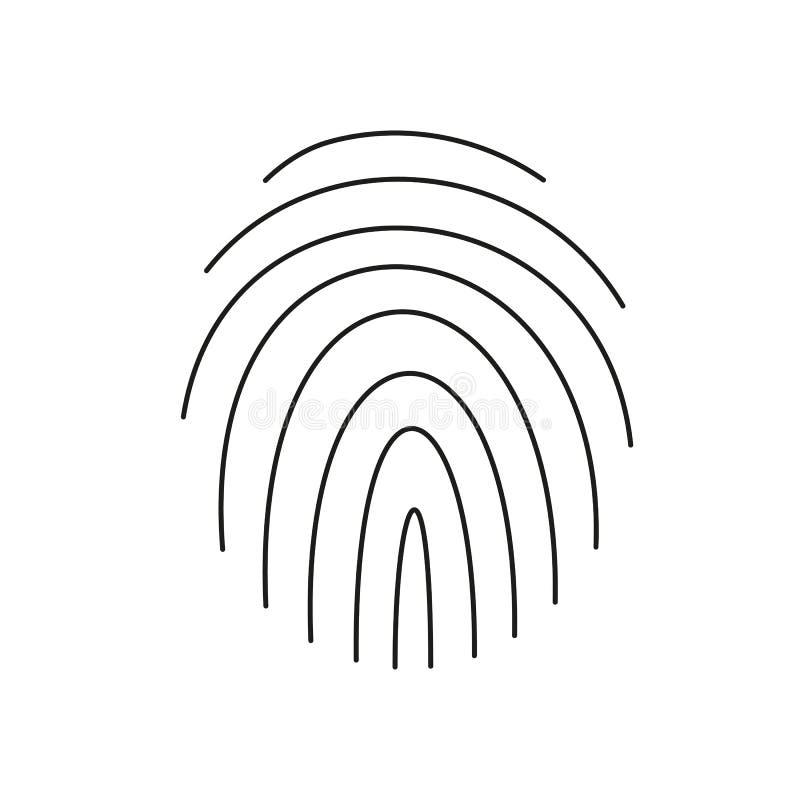 Odcisk palca na białym tle również zwrócić corel ilustracji wektora royalty ilustracja