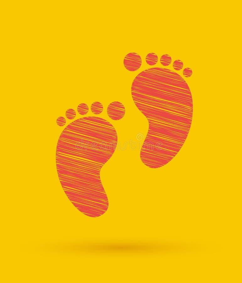 Odcisk stopy ikona ilustracja wektor