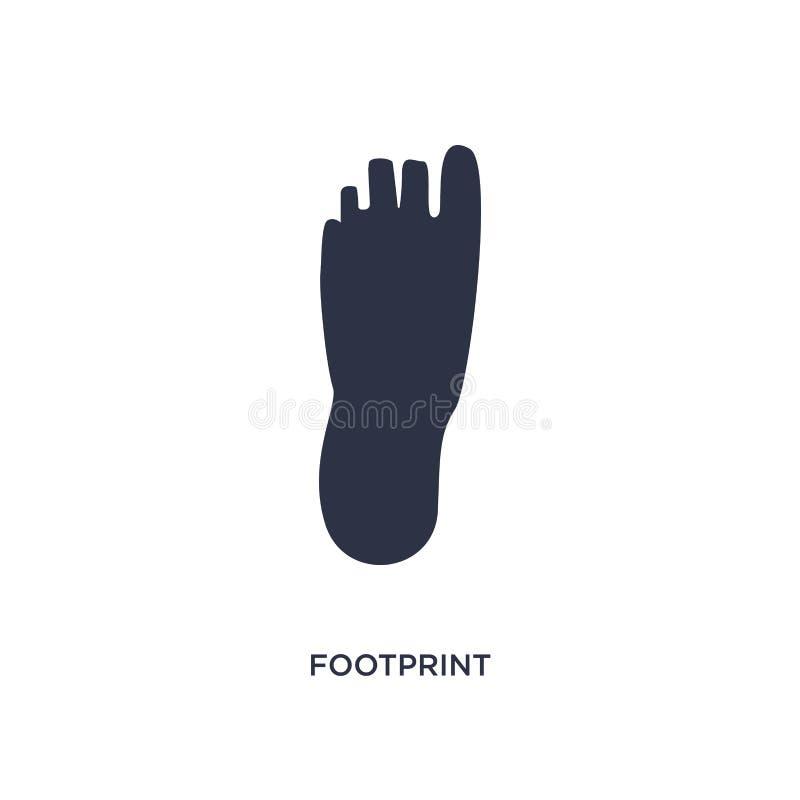 odcisk stopy ikona na białym tle Prosta element ilustracja od historii pojęcia ilustracji