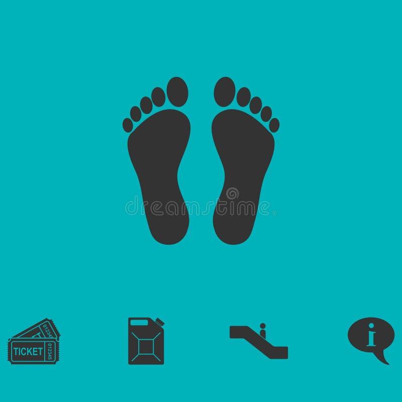 Odcisk stopy ikony mieszkanie ilustracji