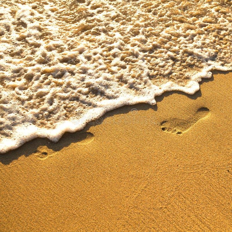 Download Odcisk stopy na piasku zdjęcie stock. Obraz złożonej z footprint - 28955984