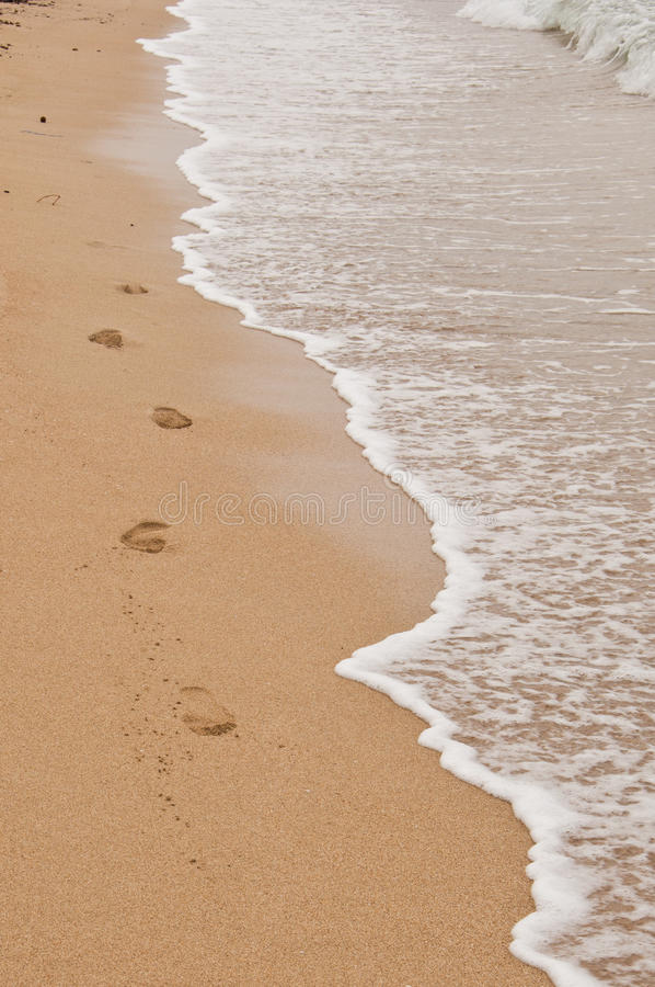 Odcisk stopy w piasku obraz royalty free