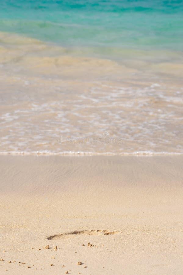 Odcisk stopy w piasku obrazy royalty free