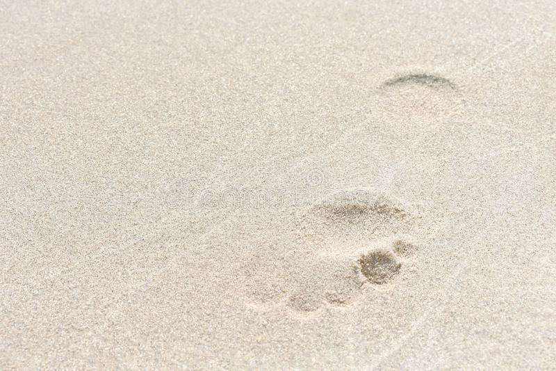 Odcisk stopy w piasku zdjęcia stock