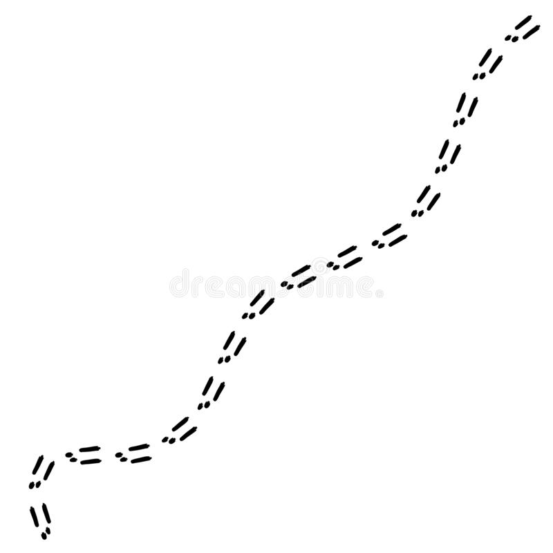 Odciski stopi królik ilustracja wektor