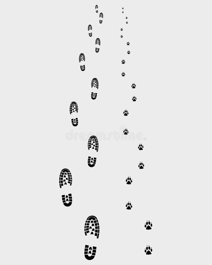 Odciski stopy 3 ilustracja wektor