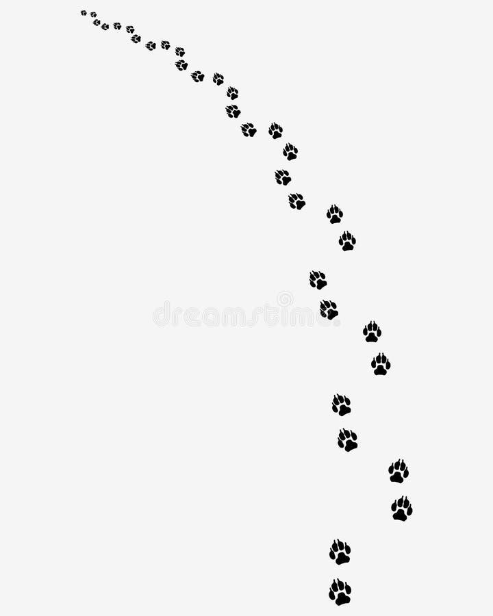 Odciski stopy psy ilustracji