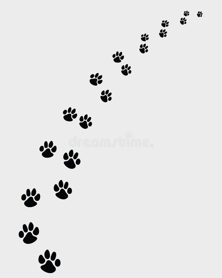 Odciski stopy psy 2 royalty ilustracja