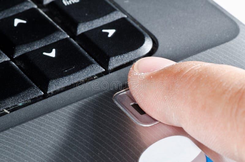 odcisku palca czytelnik obrazy stock