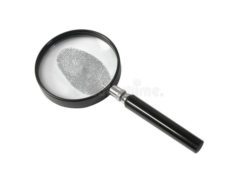 odcisku palca szkła target1232_0_ obraz royalty free