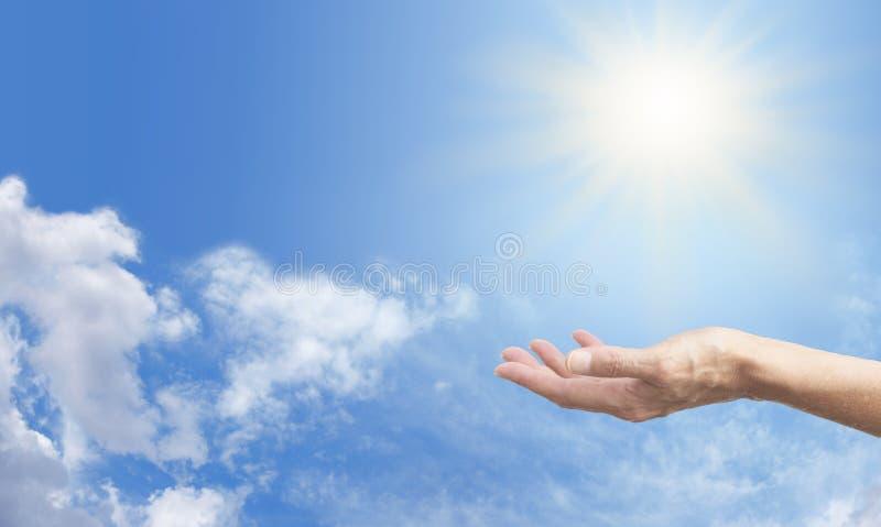 Odczuwać energię słoneczną obraz royalty free