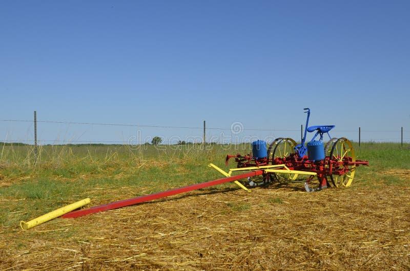 Odczyszczający kukurydzany plantator fotografia stock