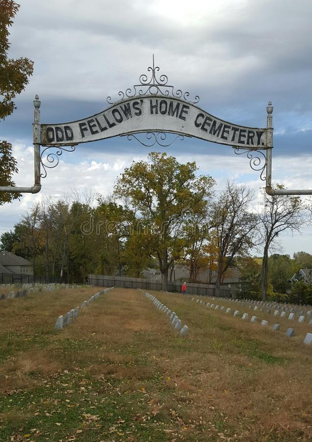 Odd Fellows Old Cemetery Grounds royalty free stock image
