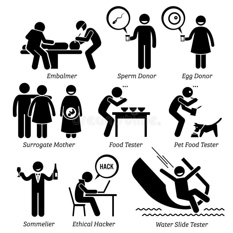 Odd Jobs Clipart inusual extraño ilustración del vector