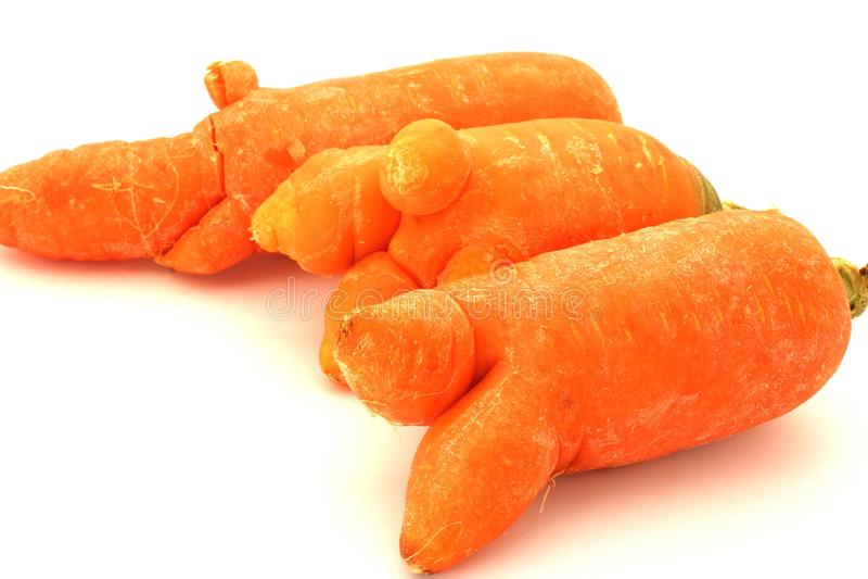 Odd Looking Carrot royalty-vrije stock foto's