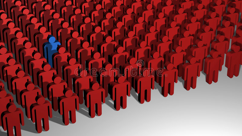 Download Odd One Out stock illustration. Image of crowd, variation - 1956679