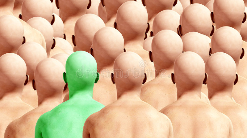 Download Odd One Out stock photo. Image of duplicates, conceptual - 6979076