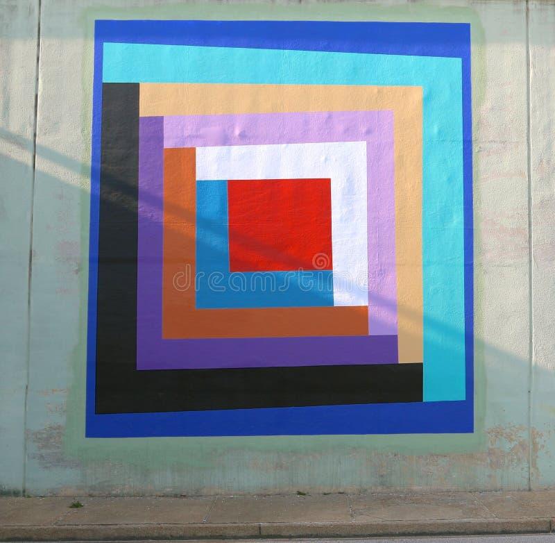 Odd Triangular Wall Mural On un passage souterrain de pont sur James Rd à Memphis, Tn photo stock
