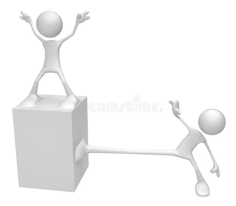 Odd White Figure, piede del monumento illustrazione di stock