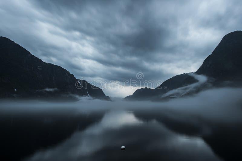 Odda, de Bergen van Noorwegen royalty-vrije stock foto