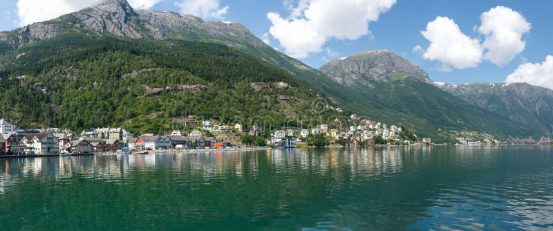 Odda miasteczko w Norwegia zdjęcia stock