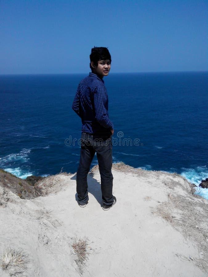 Oddalona siung plaża fotografia stock