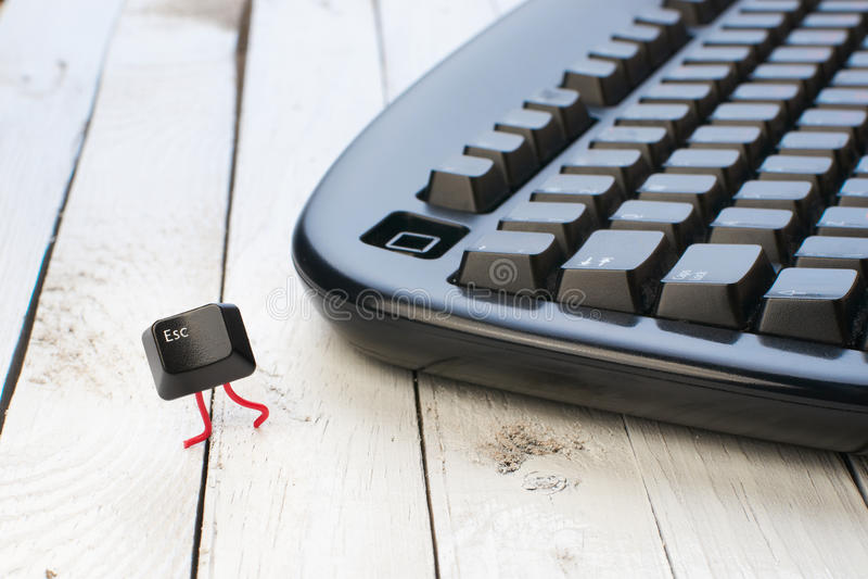 oddalony czarny wylotowego klucza klawiatury bieg zdjęcie royalty free