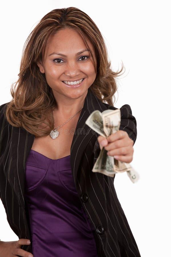 oddalony daje pieniądze obraz royalty free