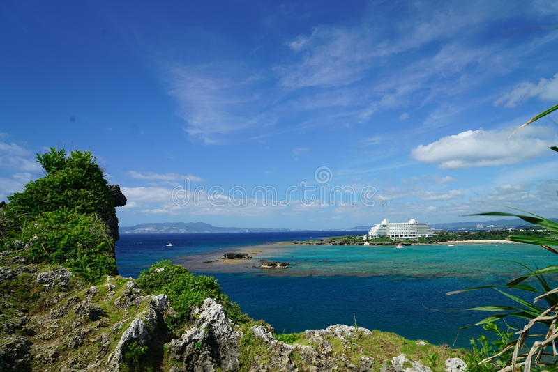 Oddech ocean fotografia stock
