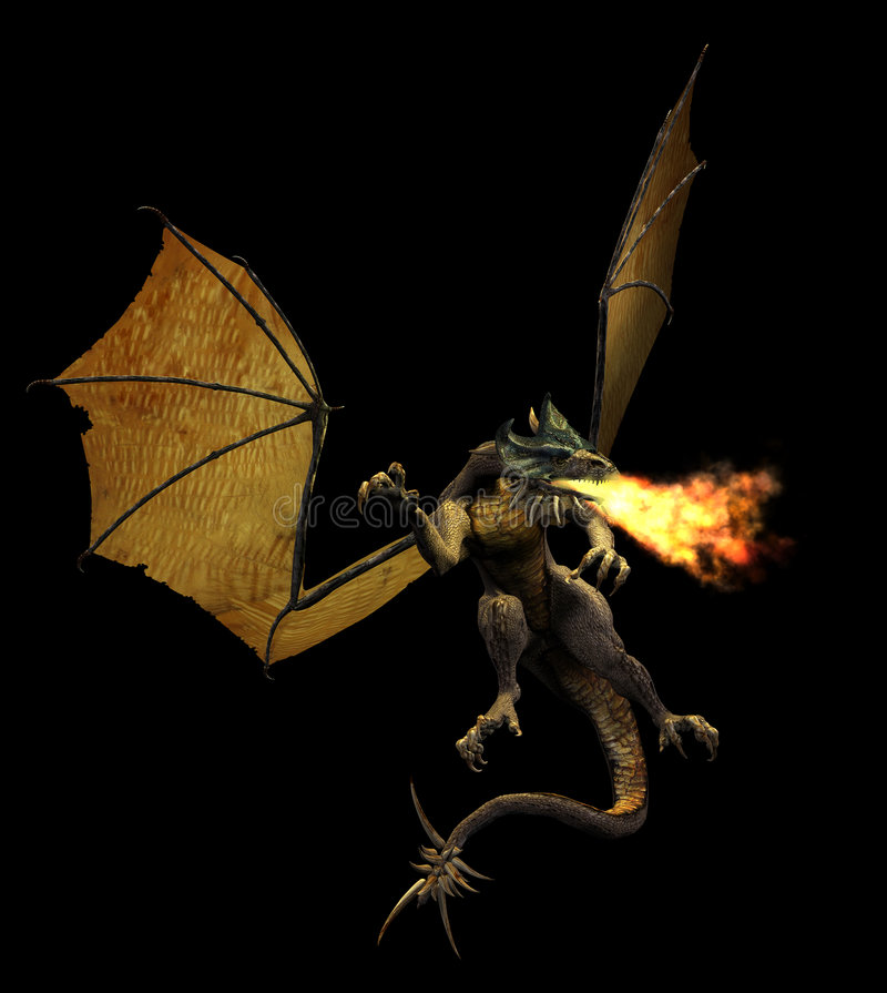 oddech smoka ogień royalty ilustracja