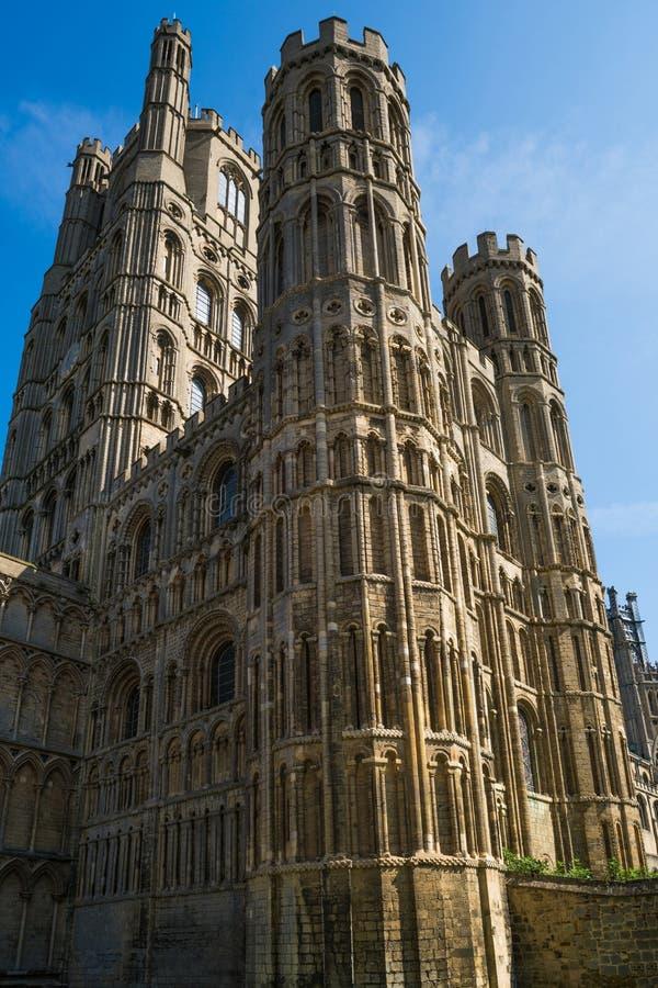 Oddolny widok Ely katedra, Cambridgeshire obrazy royalty free