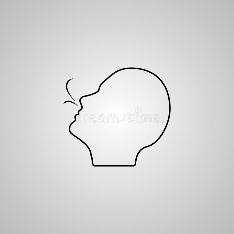 Oddychanie wektoru ikona sprawdzać oddech lub cierpieć oddechowych problemy Mieć oddech szykany Opieka zdrowotna Odosobniona ikon royalty ilustracja