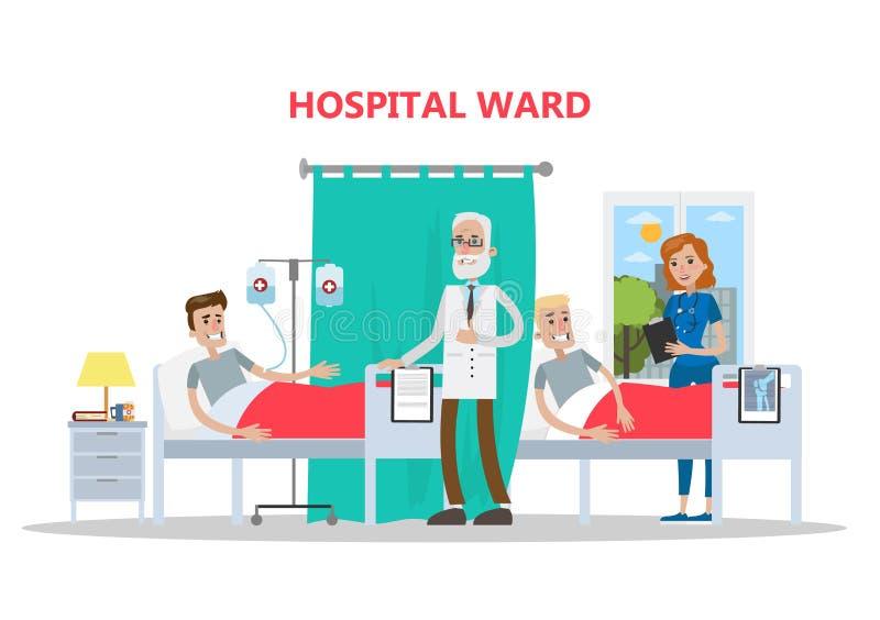 Oddział w szpitalu royalty ilustracja