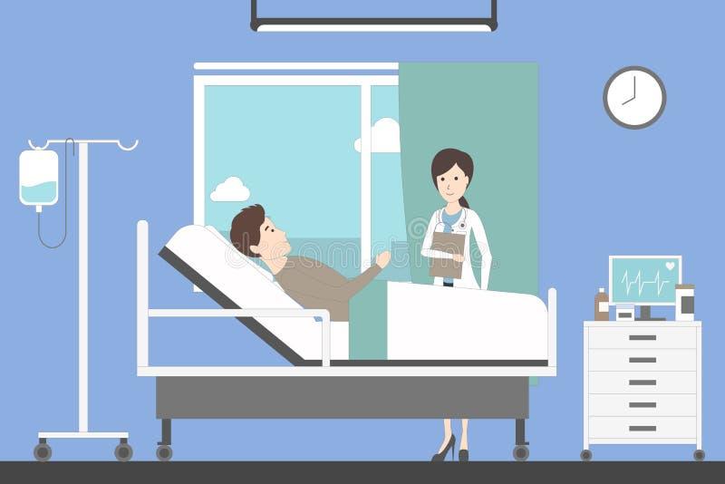 Oddział w szpitalu ilustracji