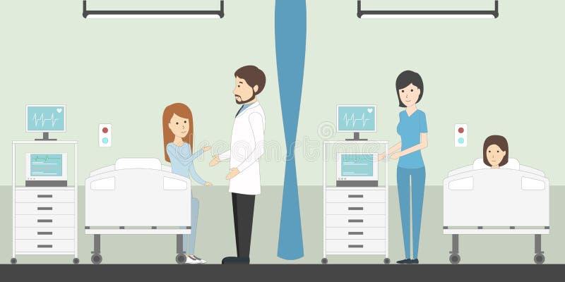 Oddział w szpitalu ilustracja wektor