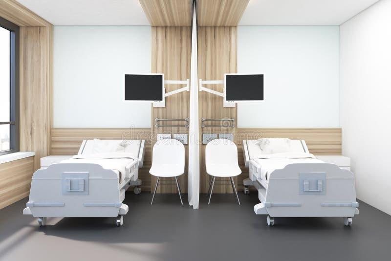 Oddział z dwa łóżkami ilustracji