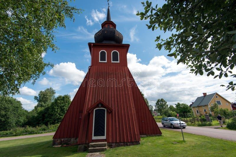 Oddzielny dzwonkowy wierza Amsberg kaplica fotografia stock