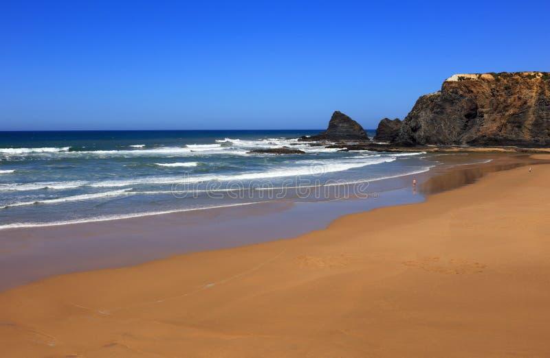 Odeceixe strand, Vicentine kust, Alentejo, Portugal arkivfoton
