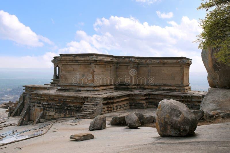 Odegal Basti lub basadi, Vindhyagiri wzgórze, Shravanbelgola, Karnataka zdjęcia royalty free