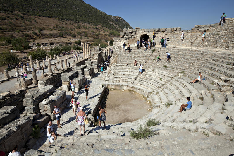 Download The Odeion, Ephesus, Izmir, Turkey Editorial Image - Image of building, travel: 24123535
